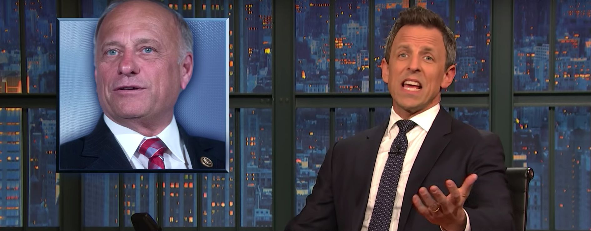 Seth Meyers Points Out Fatal Flaw With Rep. Steve King's Civil War