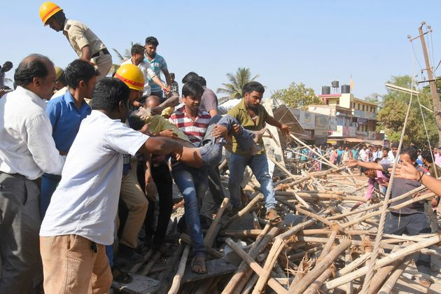 Karnataka: 5 Dead In Dharwad Building Collapse, 55