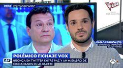 """""""Nací gay y estoy muy orgulloso"""": el encontronazo en 'Espejo Público' entre un político de Ciudadanos y el último fichaje de"""