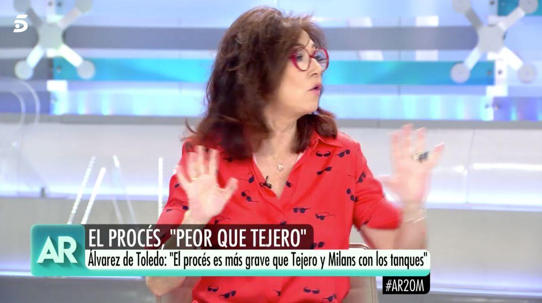"""El cabreo de Ana Rosa Quintana en pleno directo de 'El programa de AR': """"Nunca te había visto"""