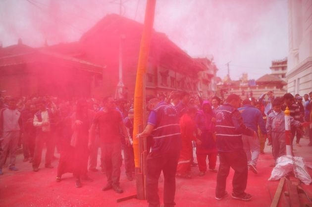 People celebrate Holi in