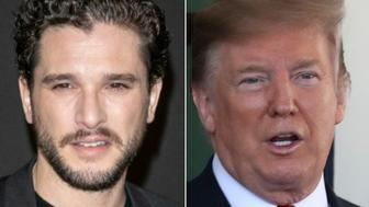 Kit Harington and Donald Trump