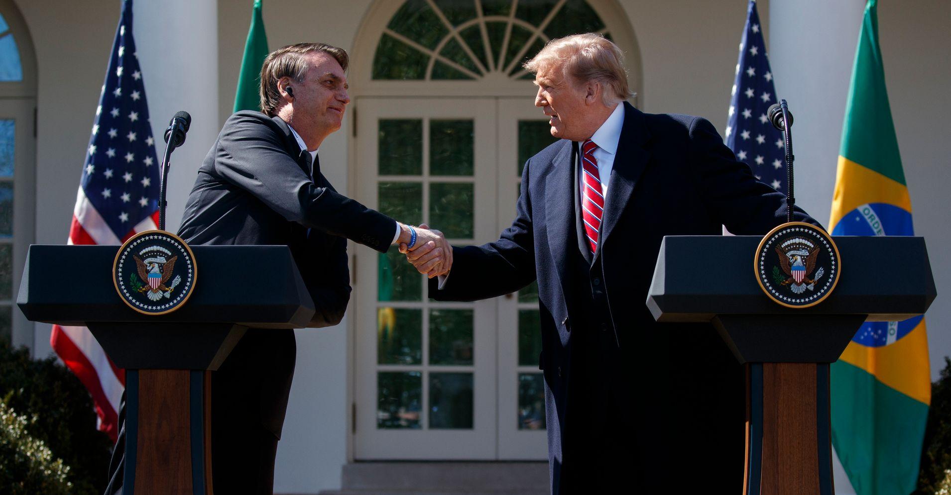 The Unbearable Machismo Of Trump And Bolsonaro's Bromance ...