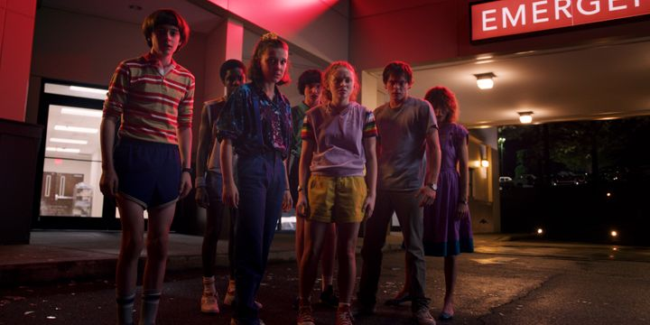 "The cast of Netflix's ""Stranger Things"" in season 3."