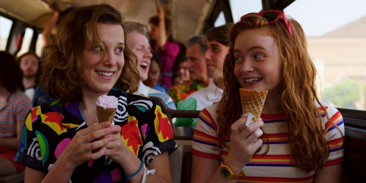 Eleven (Millie Bobby Brown) and Max Mayfield (Sadie Sink).