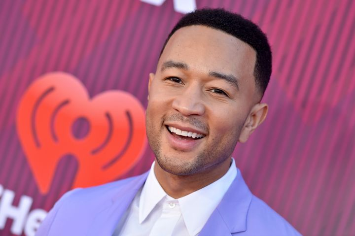 John Legend arrives at the 2019 iHeartRadio Music Awards on March 14 in Los Angeles.