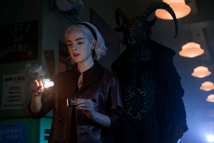 "Kiernan Shipka in ""Sabrina"" on Netflix."