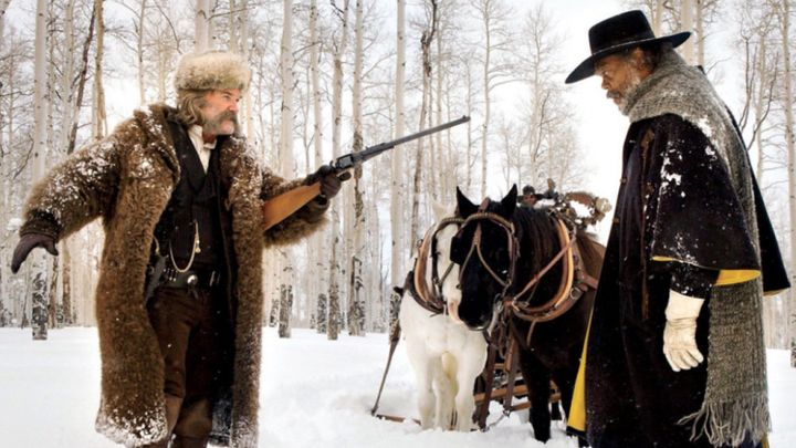 "Kurt Russell and Samuel L. Jackson in ""The Hateful Eight"" on Netflix."
