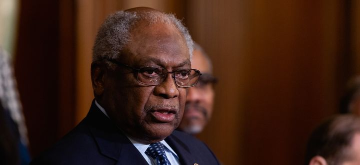 House Majority Whip James Clyburn (D-S.C.), speaks during a news conference to introduce H.R. 4, Voting Rights Advancement Ac