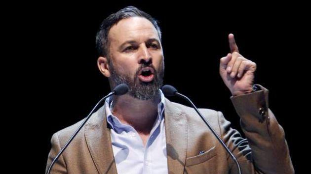 Santiago Abascal, líder de Vox, en una comparecencia