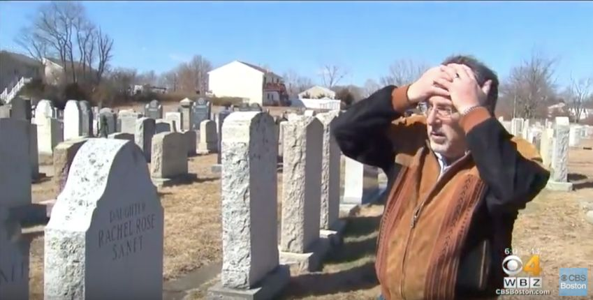 Anti-Semitic graffiti at Hebrew Cemetery in Massachusetts