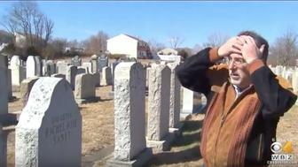 Anti-Semitic graffiti at Hebrew Cemetery in Massachusetts
