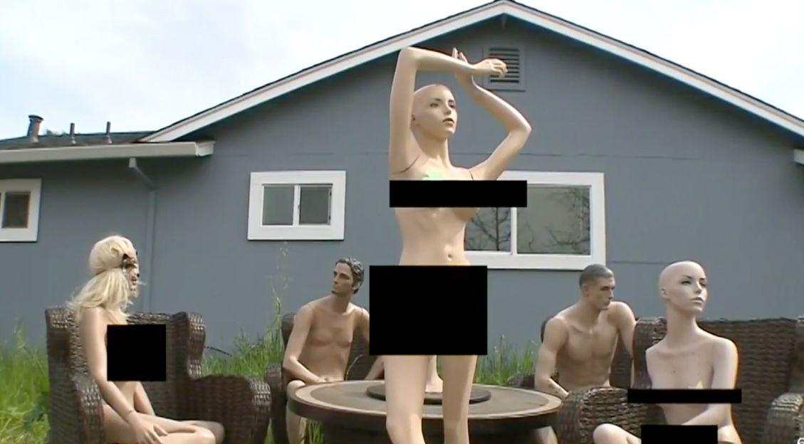 naked mannequin party