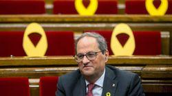 El defensor del pueblo catalán recomienda a Torra retirar los lazos amarillos de edificios
