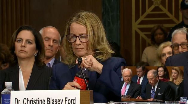 Christine Blasey Ford a réussi à faire sourire pendant sa terrible