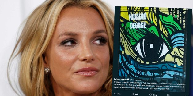 Britney Spears tweete (involontairement)