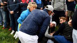 Un golfeur de la Ryder Cup a (involontairement) envoyé sa balle dans la tête d'une