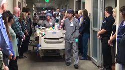 Haie d'honneur à l'hôpital pour ce patient dont les soins vont être arrêtés et les organes