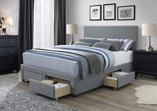 Colwell Queen Upholstered Storage Panel Bed