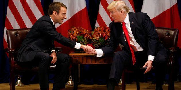 Emmanuel Macron et Donald Trump lors d'une rencontre à New York, le 18 septembre