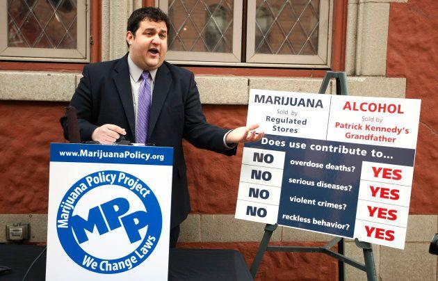 "Mason Tvert dans le Colorado en 2013, pour le ""Marijuana Policy Project"""