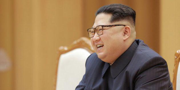 Kim Jong Un à Pyongyang le 14 avril