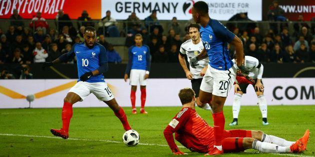 Alexandre Lacazette ouvre le score en Allemagne le 14 novembre