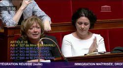 Cette députée était très émue par l'adoption de son amendement, au lendemain du décès de sa