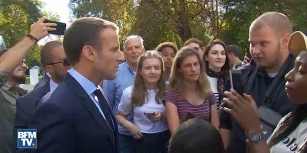 Emmanuel Macron revient pour la première fois sur l'échange avec Jonathan Jahan, le jeune