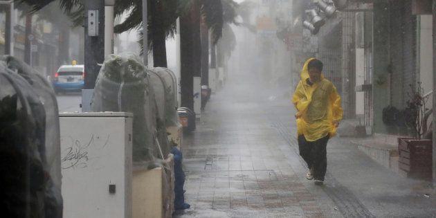 Au Japon, le typhon Trami a fait ses premières