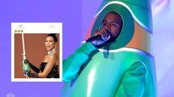 Moqué après sa prestation improbable en bouteille de Perrier, Kanye West s'en