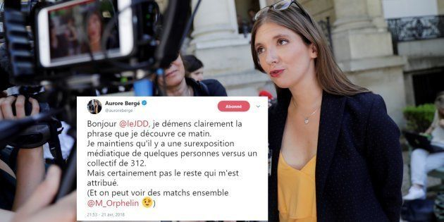 Aurore Bergé obligée de démentir une citation qui aurait mis le feu au groupe
