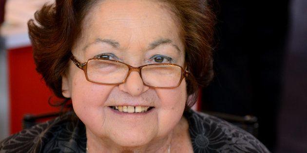 Françoise Héritier lors du Salon du Livre de Paris présentant son