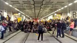 Actions coup de poing des séparatistes catalans pour les 1 an du référendum pour