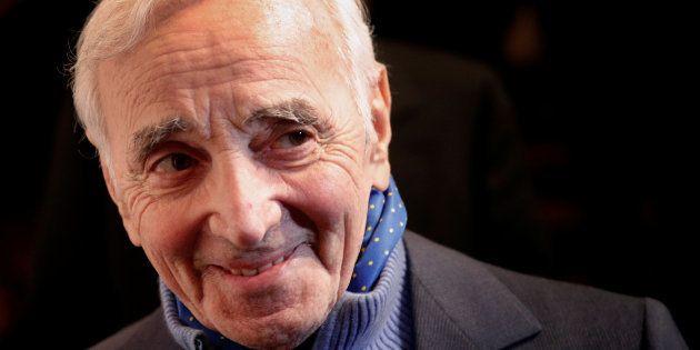 Charles Aznavour à Paris le 8 février