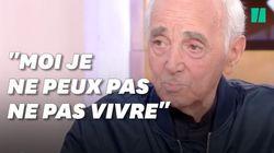 Ce que disait Charles Aznavour à la télé 3 jours avant sa