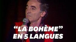 Charles Aznavour chantait