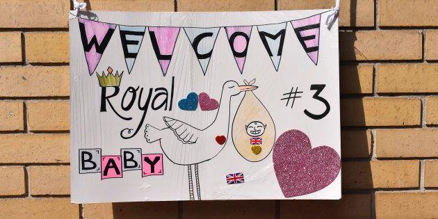 Les fans de la famille royale ont confectionné ce petit dessin pour la naissance du troisième 'Royal