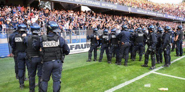 Des CRS déployés en masse lors de Montpellier-Nîmes le 30 septembre