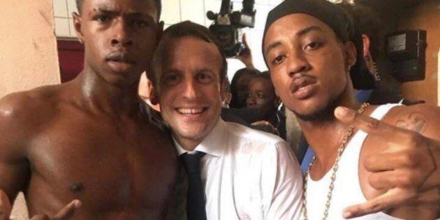 Saint-Martin: L'un des hommes présents avec Macron sur la photo du doigt d'honneur