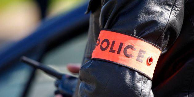 France, Paris. Policeman's tag