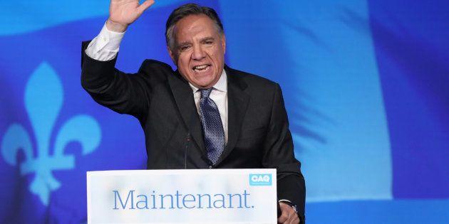 Francois Legault, leader de la Coalition Avenir Quebec