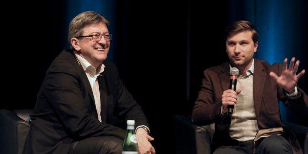 Jean-Luc Mélenchon et Gabriel Nadeau-Dubois, en avril 2016 à