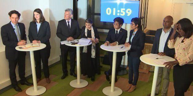 Capture d'écran du débat opposant les candidats au bureau exécutif de