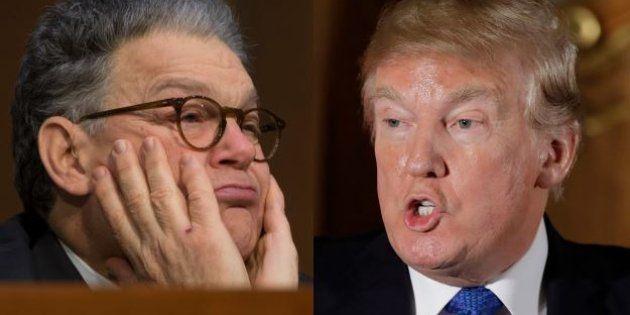 Donald Trump ne se prive pas d'enfoncer Al Franken, l'un de ses potentiels adversaires pour