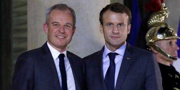 Le président de la République Emmanuel Macron et le président de l'Assemblée nationale, François de