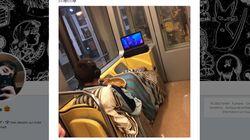 Il y a une explication à cette photo insolite prise dans le métro à
