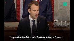 Les trois principales piques de Macron à Trump devant les élus