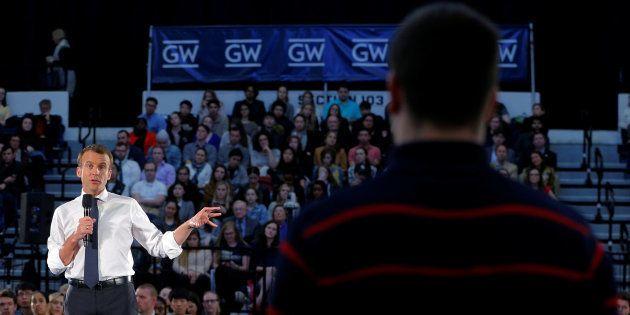 Emmanuel Macron à Washington le 25 avril