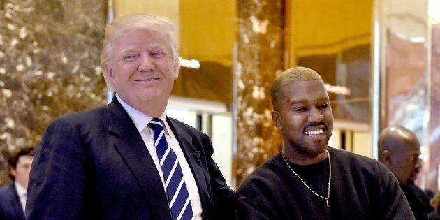 Donald Trump et Kanye West à New York le 13 décembre